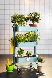 create your own little garden on wheels with the ikea råskog
