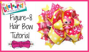 hairbow supplies how to make a figure 8 hair bow lalaloopsy hair bow hairbow