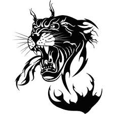 panther head tattoo design