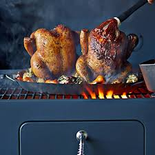 vertical turkey roasting stand two in one vertical chicken roaster williams sonoma