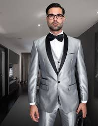 light gray vested suit tuxedo silver gray light grey two toned vested suit