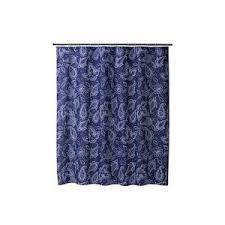 Blue Paisley Curtains Target Home Paisley Cotton Slub Shower Curtain Blue Polyvore