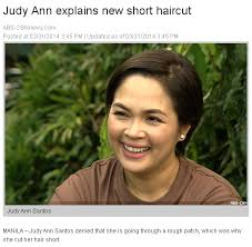 judy ann santos short hair 10 ordinary things celebs did that ended up in national news spot ph