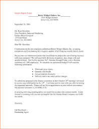 inquiry letters sample sample bank application
