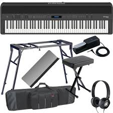 brand new roland fp 90 black portable stage piano 88 weighted key
