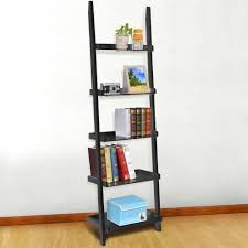 Ladder Shelving Unit Yaheetech 5 Tier 70 U0027 U0027 Wood Ladder Shelves Display Shelves Book