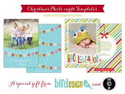 free holiday card template for photographers download now