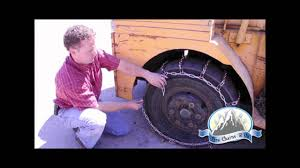 how to install forklift tire chains youtube