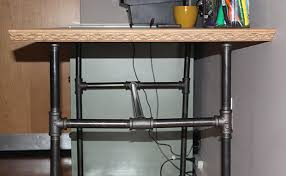 Pipe Desk Diy Industrial Pipe Desk Diy Www Vanillaandvelvet Boy S