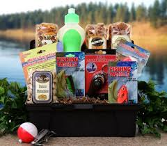 fishing gift basket fathers day fishing gift basket tackle box gear and snacks