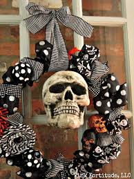 Halloween Skulls Mr Boo U0027s Blinged Out Wreath Pink Fortitude Llc