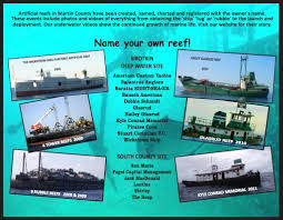 Florida Artificial Reefs Map by Mcac Artificial Reef Fund Our Named Artificial Reefs Are
