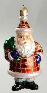 down the chimney santa old world christmas ornament santa
