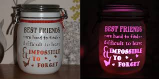 personalised glass candle memory jar gift for her friend