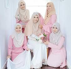 wedding dress syari ispirasi gaun bridesmaid tetap cantik dan anggun dalam balutan