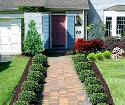 front entrance landscaping designs entry design layering sidewalk