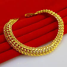 jewelry man gold bracelet images 2018 gold bracelet men do not fade female models 24k gold chain jpg