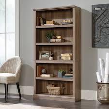 Sauder 3 Shelf Bookcase Cherry Sauder Select 5 Shelf Bookcase In Salt Oak Ebay