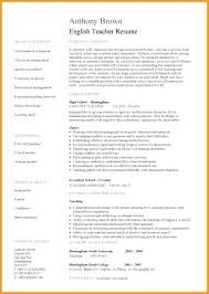 Education Resume Template Word Sample English Teacher Resume Elementary Teacher Resume