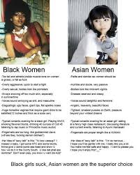 Asian Lady Meme - if black men could stop creating memes about black women that d be great