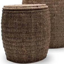 Seagrass Storage Ottoman Tag Seagrass Storage Ottoman Baskets With Lids Set Of 3
