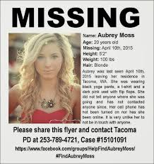 Hayward And Company U2013 Nh by Missing Persons Of America Aubrey Moss Missing From Tacoma Found