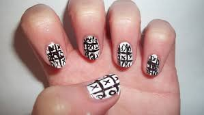 toe nail designs black and white images nail art designs