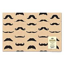 mustache wrapping paper mustache gift wrap paper 2 sheets health personal care