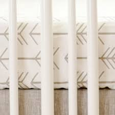 neutral arrow crib sheet cotton baby sheet crib sheets