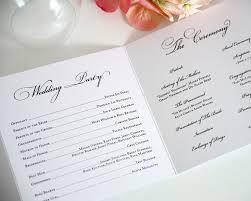 Traditional Wedding Program Wedding Program Wording Amp Templatestruly Engaging Wedding Blog