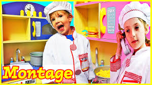 kids kitchen set toys compilation kitchens pretend play cooking