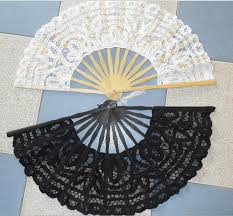 lace fans wedding fans folding lace fans handmade 10 6 plain white