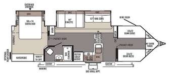 winsome design travel trailer floor plans with bunk beds 2 camper