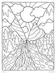 free printable coloring pages for adults landscapes landscape coloring pages nature scenes detailed free arilitv com