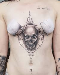 Tattoos In Between The Breast 75 Sternum Ideas Yours