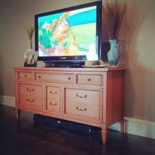 dresser tv stand combo solid wood bedroom furniture in cherry in