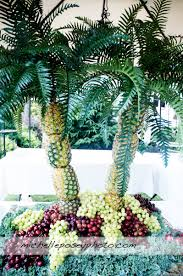 centerpieces made out of fruit favorite things pineapple palm