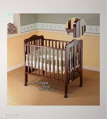 Folding Mini Crib Mini Cribs For Small Spaces Canapé