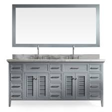 shop ariel kensington grey undermount double sink bathroom vanity