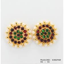 kempu earrings stones traditional design earrings temple earrings