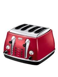 Delonghi Icona Toaster Green Delonghi Ctom4003 1800 Watt Micalite Icona 4 Slice Toaster Red