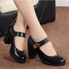 Comfortable Work Shoes Womens Women Genuine Leather Pumps Office Lady Shoes For Woman Comfort