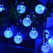 qedertek globe ball solar string light 20ft 30 led fairy bubble