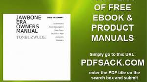 jawbone era owners manual video dailymotion