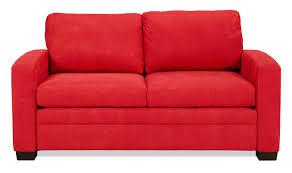 levin signature full sleeper sofa chili red levin furniture