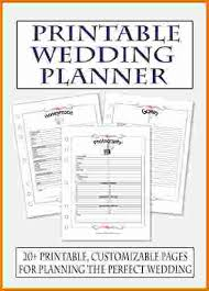 wedding planner organizer book 4 free printable wedding planner expense report