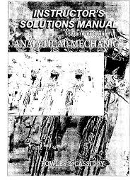 solutions manual analytical mechanics 7e fowles documents