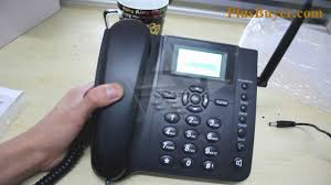 Desk Telephones Quadband Wireless Desk Phone With Sms Function 2 4 Inches Youtube