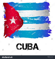 Latin Country Flags Flag Cuba Brush Strokes Grunge Style Stock Vector 501046684