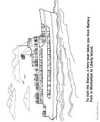 the statue of liberty location coloring pages too